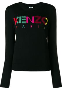 Kenzo Suéter Com Logo - Preto