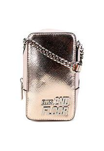 Bolsa Ellus 2Nd Floor Crossbody Mini Bag Feminina - Feminino-Nude