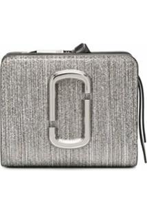 Marc Jacobs Carteira Mini The Snapshot Glitter Stripe - Prateado