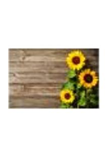 Painel Adesivo De Parede - Flores - Girassol - 1069Pnm