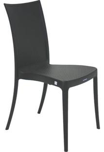 Cadeira Laura Ratan- Preta- 87,5X45X55Cm- Tramontramontina