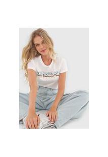 Camiseta Colcci Tropicalize-Se Off-White