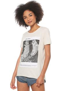 Camiseta Coca-Cola Jeans Estampada Off-White