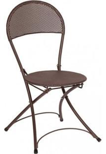 Cadeira Dobrável Paris Mestra Móveis Marrom