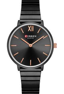 Relógio Curren Analógico C9040L Preto