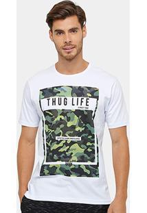 Camiseta Local Estampa Camuflada Masculina - Masculino