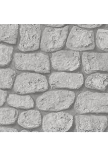 Papel De Parede Pedras- Cinza Claro & Cinza- 1000X10Shark Metais