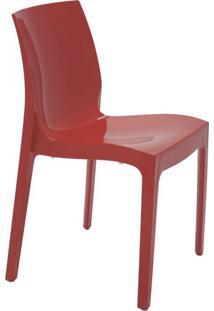 Cadeira Alice Sem Braços Polipropileno Tramontina Vermelho