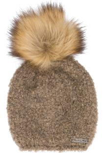 Norton Pom Pom Knitted Hat - Marrom