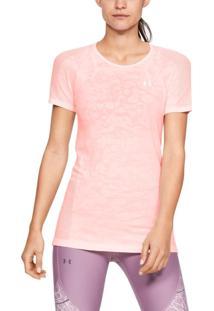 Camiseta Under Armour Camiseta Under Armour Vanish Seamless Mesh Feminina Rosa