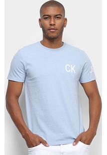 Camiseta Calvin Klein Logo Masculina - Masculino-Azul Claro