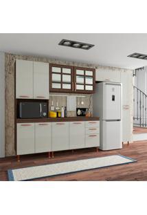 Cozinha Compacta Marília 12 Pt 2 Gv Noce E Off White