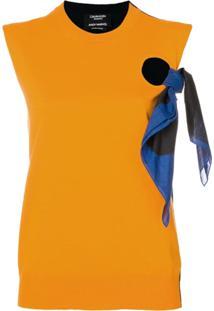 Calvin Klein 205W39Nyc Blusa Com Detalhe De Nó - Azul