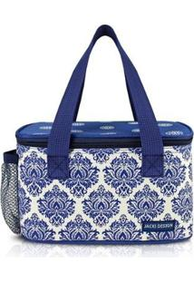 Bolsa Térmica Com Compartimento Rede Na Lateral Jacki Design Bella Vitta - Unissex-Azul