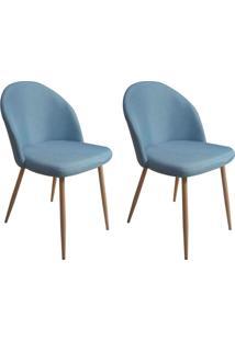 Conjunto Com 2 Cadeiras Juno Azul