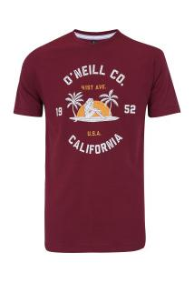 Camiseta O'Neill Estampada Surf Co - Masculina - Vinho