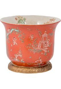 Vaso De Porcelana E Bronze Ii- Linha Colonial