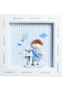 Nicho 1 Led Bonequinho Cavalinho Potinho De Mel Azul