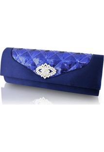Bolsa Jacki Design Carteira E Clutch Azul