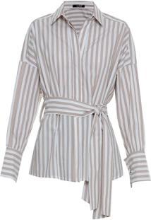 Resultado de imagem para Camisa Tricoline Listras Charlotte  /Amíssima - R$ 169,89;