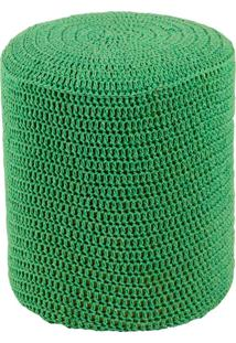 Puff Round Crochê - Stay Puff - Verde
