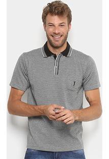 Camisa Polo Aleatory Jacquard Masculina - Masculino-Mescla