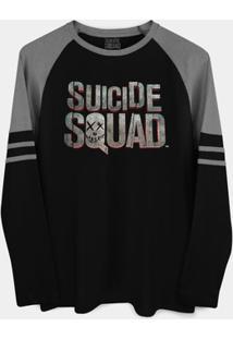 Camiseta Manga Longa Dc Comics Esquadrão Suicida Bandup! - Masculino