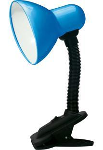 Luminária De Mesa Taschibra Tlm05 E27 Articulável Garra Bivolt Azul