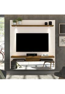 """Painel Para Tv Até 60"""" Luce 100% Mdf 16022 Off White/Demolição - Dj Móveis"""