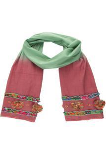 Xale- Pashmina- Visc Excl Customiz Verao- Rose