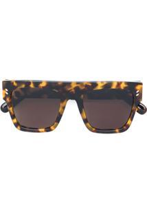 R  1553,00. Farfetch Stella Mccartney Eyewear Óculos De Sol Quadrado -  Marrom 34a0dfd0bb