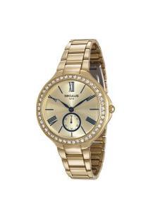 Relógio Analógico Seculus Feminino - 48086Lpsvds1 Dourado