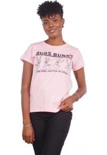 Camiseta Estampa Pernalonga Looney Tunes Feminina - Feminino