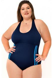 Maiô Plus Size Azul