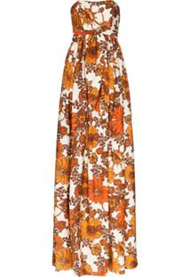 Dodo Bar Or Zaza Floral Print Maxi Dress - Laranja