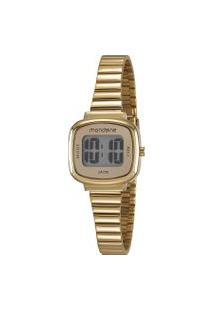 Kit De Relógio Digital Mondaine Feminino + Pulseira De Pingentes - 53717Lpmvde1K2 Dourado