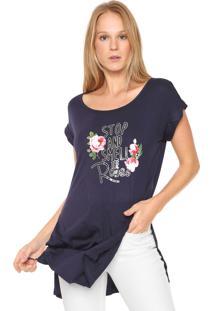Camiseta Acrobat Alongada Azul-Marinho