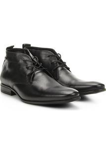 Sapato Social De Couro Jorge Bischoff Essen Masculino - Masculino-Preto