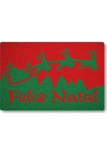 Tapete Capacho Feliz Natal Ii - Vermelho