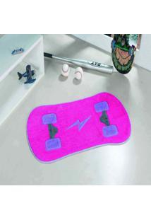 Tapete Dourados Enxovais Formato Skate Pink