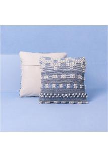 Capa De Almofada Clara Cor: Azul - Tamanho: Único
