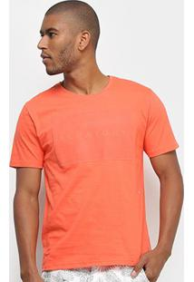 Camiseta Aleatory Relevo Masculina - Masculino-Coral