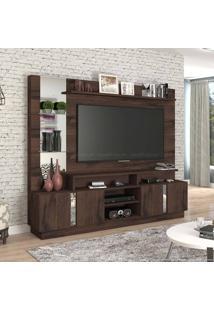 Estante Home Theater Para Tv Até 60 Polegadas 4 Portas Munique Café - Permóbili Móveis