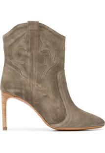 Ba&Sh Ankle Boot Caitlyn - Verde