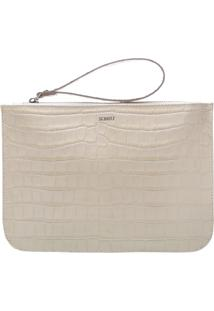 Clutch Bright Croco White | Schutz