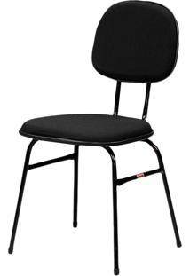 Cadeira Miami Fixa Preto Espuma Injetada Fabone Móveis