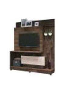 Painel Home Theater 1.6 Para Tv Até 42? Sala De Estar Apolo Texture Deck/Off White - Gran Belo