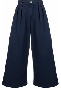 Ps Paul Smith Calça Jeans Pantalona Cintura Alta - Azul