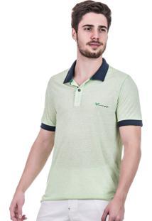 Camisa Polo Hifen Em Tecido Reciclado Verde