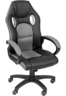 Cadeira Gamer Ninja Preta E Cinza